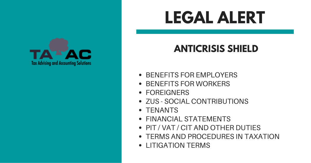 Anticrisis shield – for employers and employees